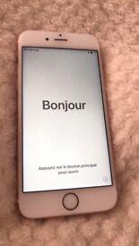 iPhone 6s 16gb rose gold EE plus light up case