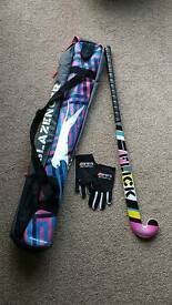 Hockey stick, bag and gloves (almost new)