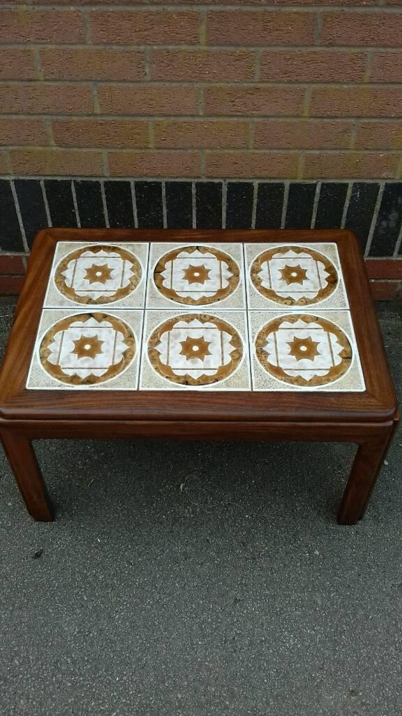 G Plan Retro 1970s Tile Top Coffee Table