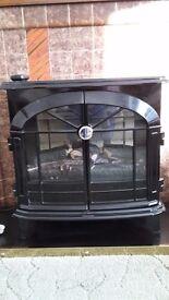 Dimplex Black stove effect fire