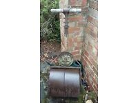 Vintage metal lawn roller/garden ornament