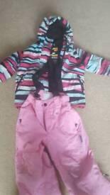 Billabong ski jacket plus trousers. Age 3-4
