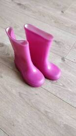 Pink sparkly welly boots