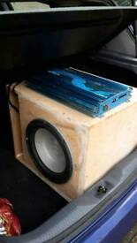 Orion amp, infinity subwoofer, vented box loud