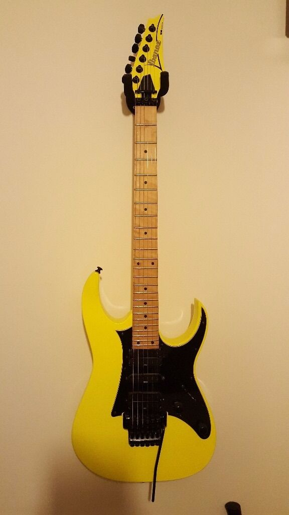 Ibanez RG 350 Electric GuitarLike Newin Great Sankey, CheshireGumtree - Ibanez RG 350 M Electric Guitar LIke new condition, not a mark upon it. Brilliant Yellow colour, Recent String replaced (9s) Ibanez Floyd Rose locking trem system