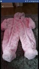 9-12 pink pram suit