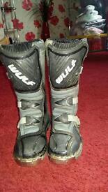 Kids Wulf motocross boots