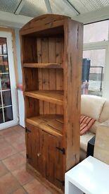 Corner unit sold wood