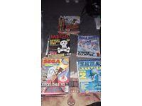 Various vintage sega magazines for sale