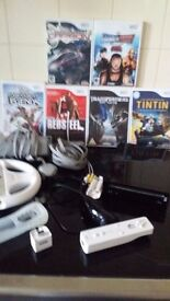 nintendo wii black console, plus all you see
