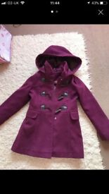 Purple duffle coat age 7-8