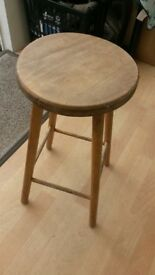 pine Stool For Sale.