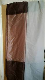 Gold & Brown lined curtains