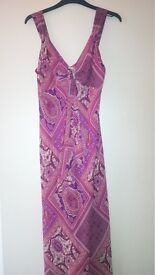 Ladies M&Sfloaty dress in pink paisley florals in size 12