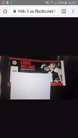 2 X Robbie william tickets