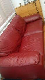Leather sofas 3 pieces