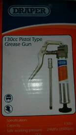New boxes draper 130cc pistol type grease gun, can deliver or post
