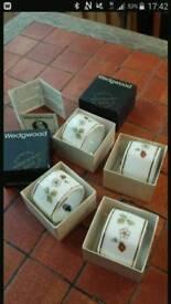 Wedgwood napkin rings - 22 carat gold rim