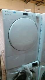 New graded Candy 9kg condenser dryer with 12 months guarantee
