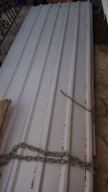 2 x large metal roofing sheet 12 feet long