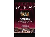 X3 Green Day BST Hyde Park Tickets 1st July