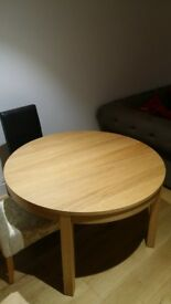 Dining Table Oak Veneer (Extendable)