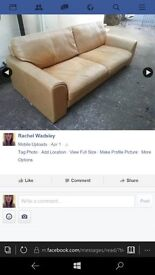 x2 leather sofa free