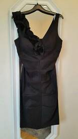 Black ruched dress size 8