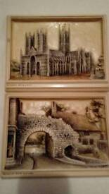 Pair of very old unusual, Wall Plaques.