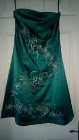 Jane Norman strapless embellished dress size 12