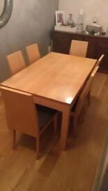 Solid 6 seater table *REDUCED*