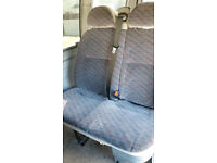 transit minibus double seat with 3 point belts