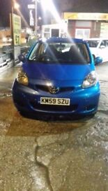 toyota aygo 1.0 blue 2009 AUTOMATIC, 41,000 miles