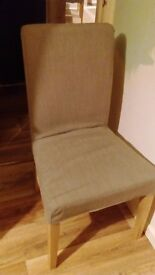 4 HENRIKSDAL Chairs, Light Grey *Lightly Used* - *REDUCED*