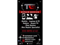 I fix all phones laptops tablets and pc's at reasonable prices with a quick turn around time