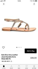 Brand new rose gold sandals size 6