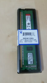 Kingston 4GB ECC DDR3 1600 MHz PC3-12800 SDRAM unbuffered KVR16N11S8/4 free delivery