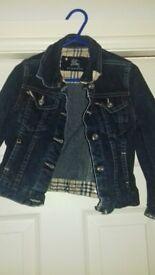 Girls denim jacket by Burberry size 18-24 months