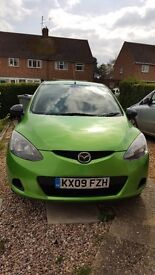 Mazda 2 TS 1.4l 09 reg spirit green petrol manual