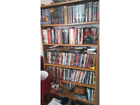 DVDs and shelving unit