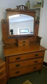 Edwardian dressing table/vanity chest.