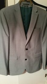 Mens 3 piece Grey/silver suit from Next