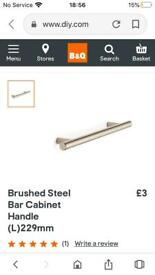 29 Contemporary Brushed Steel Bar Kitchen Handles