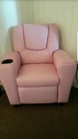 Kid's toddler Leather reclining chair