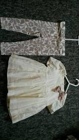 6-9M dress with leggings