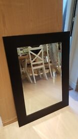 Large mirror with black frame
