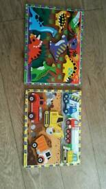 Melissa and Doug wooden puzzles