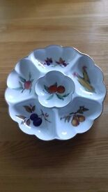 Royal Worcester Cruditee Dish - very good condition and unusual shape