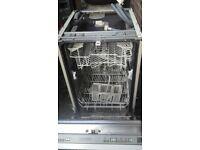 Diplomat slimline integrated dishwasher £80