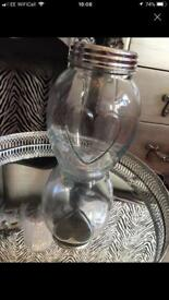 Love heart glass jar home and kitchen decor